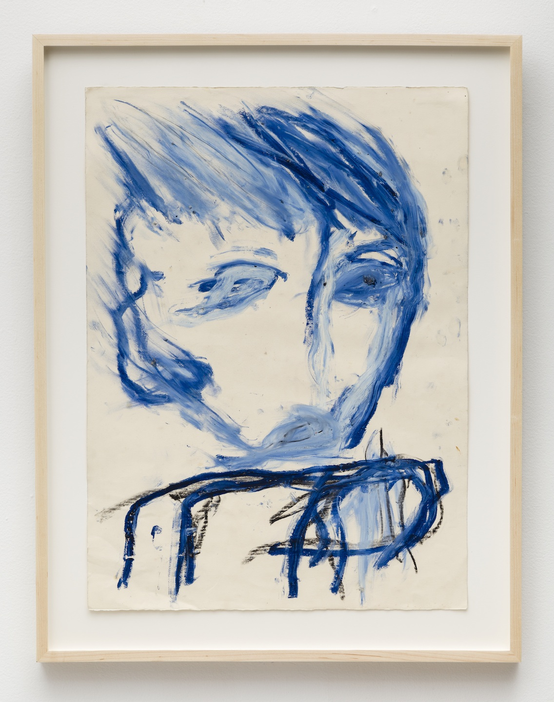 Dan Asher,    Untitled , 1982, oil stick on paper, 26 × 19 in., 31 ¼ × 24 ¼ in. (framed)