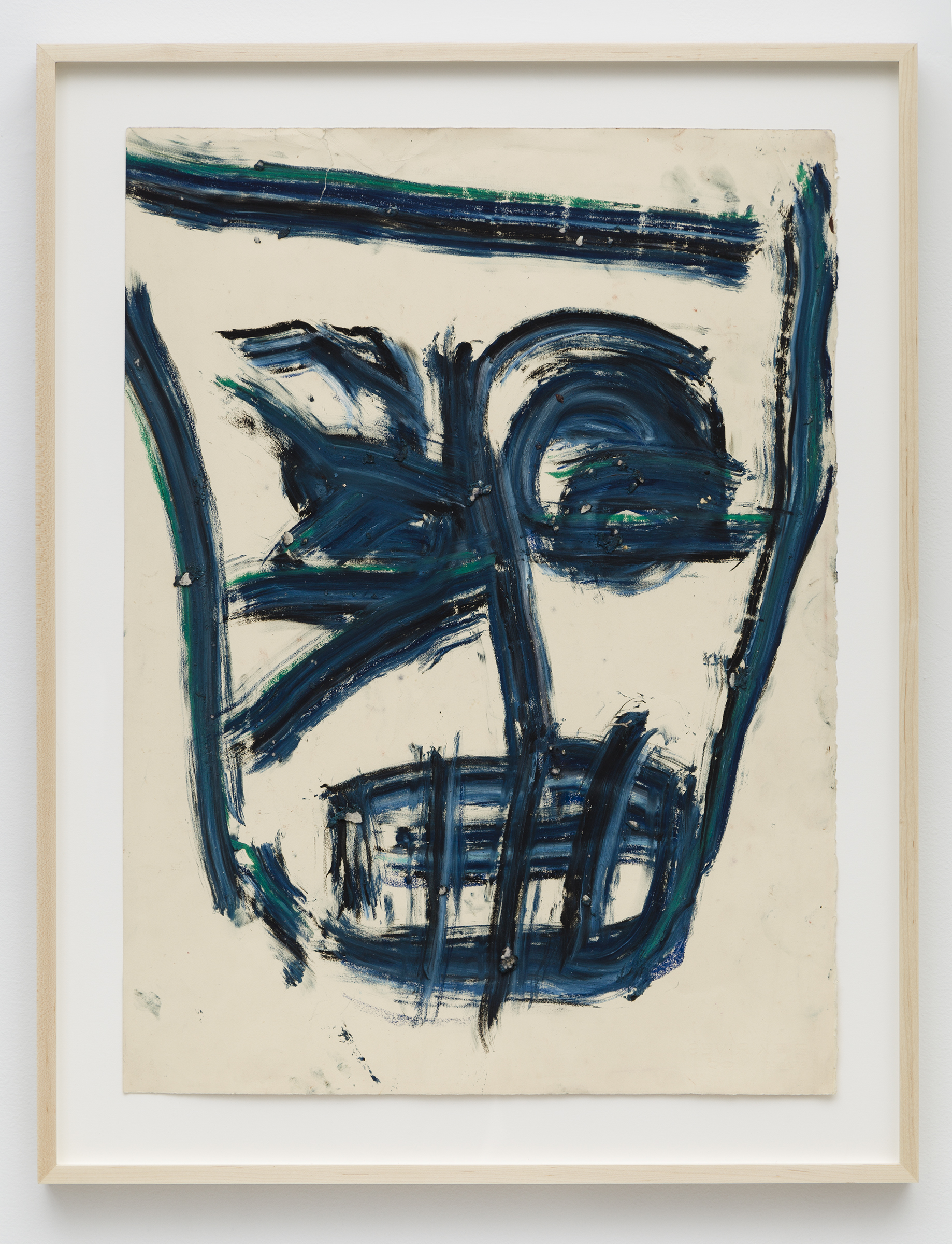 Dan Asher,  Untitled , 1983, oil stick on paper, 30 × 22 ¼ in., 35 ½ × 27 ½ in. (framed)