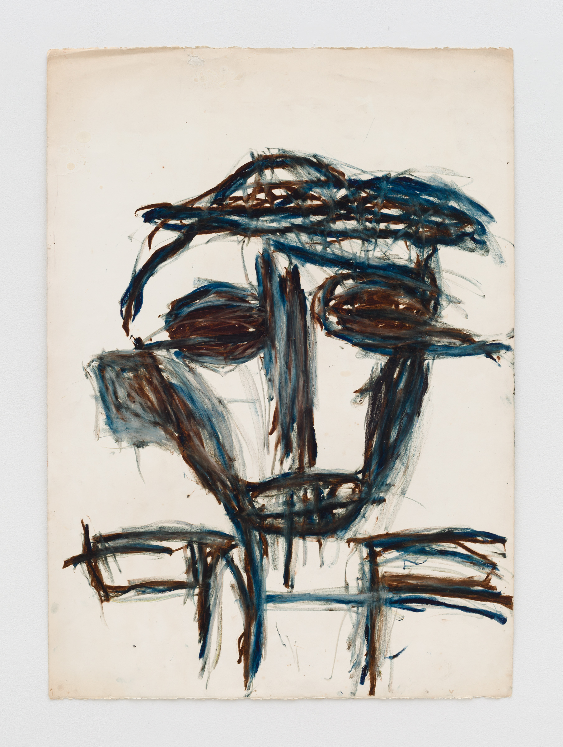 Dan Asher,    Untitled , 1980s, oil stick on paper, 42 ½ × 30 ¼ in., 48 × 35 ⅝ in. (framed)