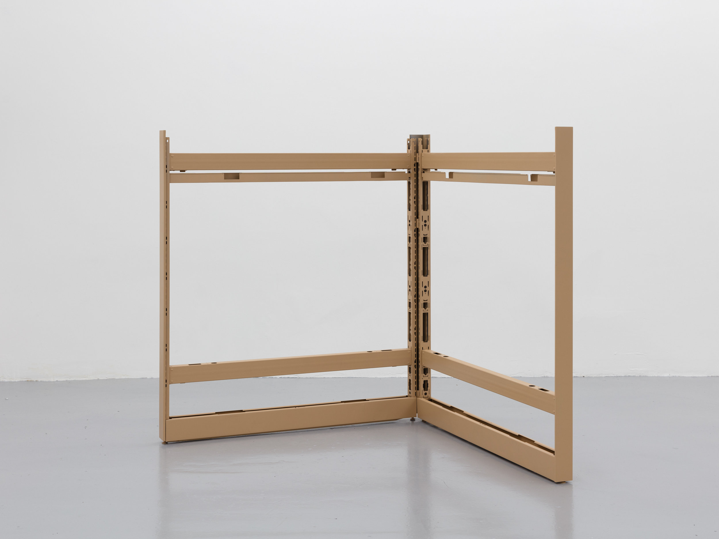 Jessica Vaughn ,   Depreciating Assets: Variable Dimensions , 2018, Metal, lacquer paint and hardware, Dimensions variable