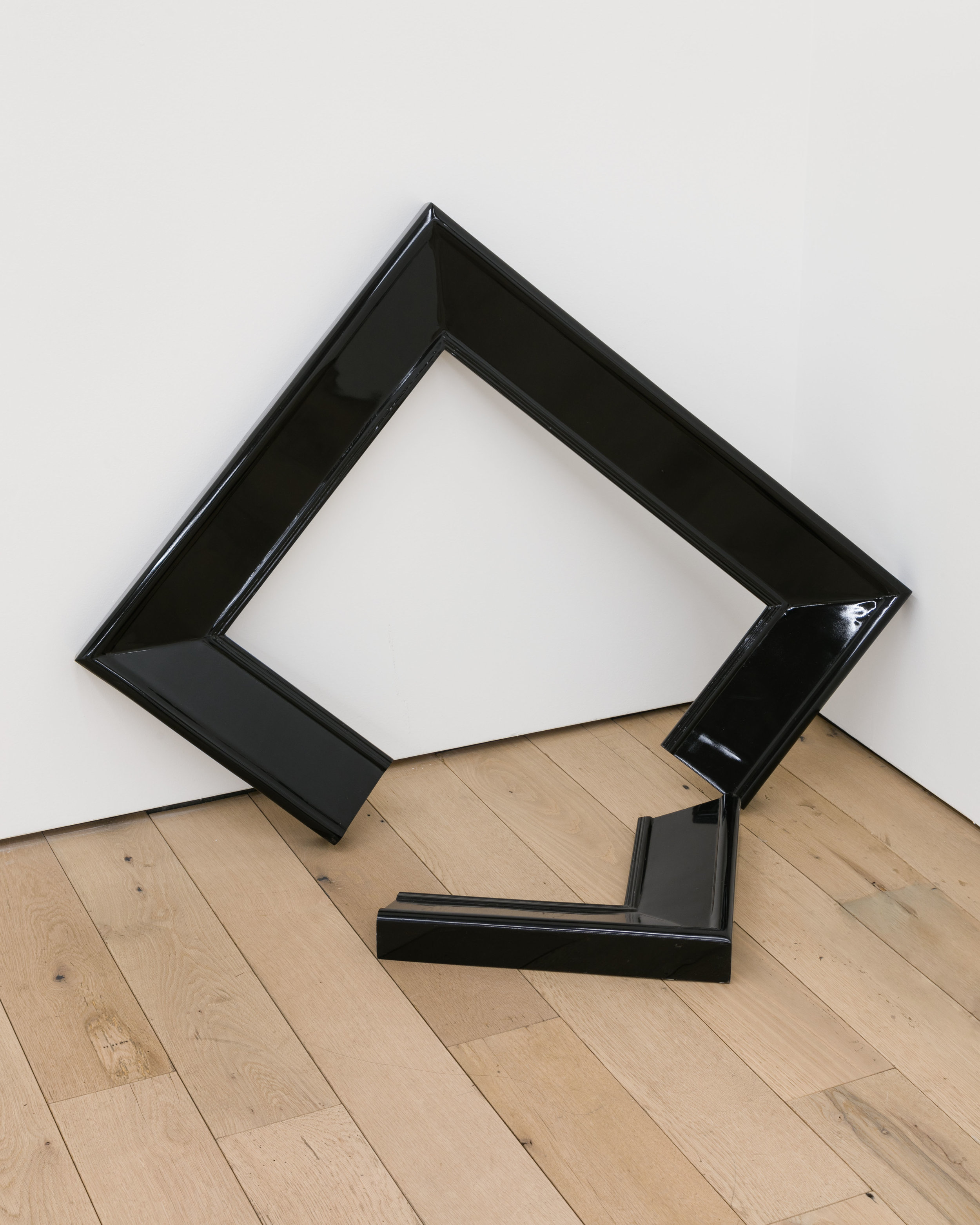 Pat O'Neill,  Broken Frame , 2009, fiberglass, wood, lacquer surface, 26 x 26 x 8 in.