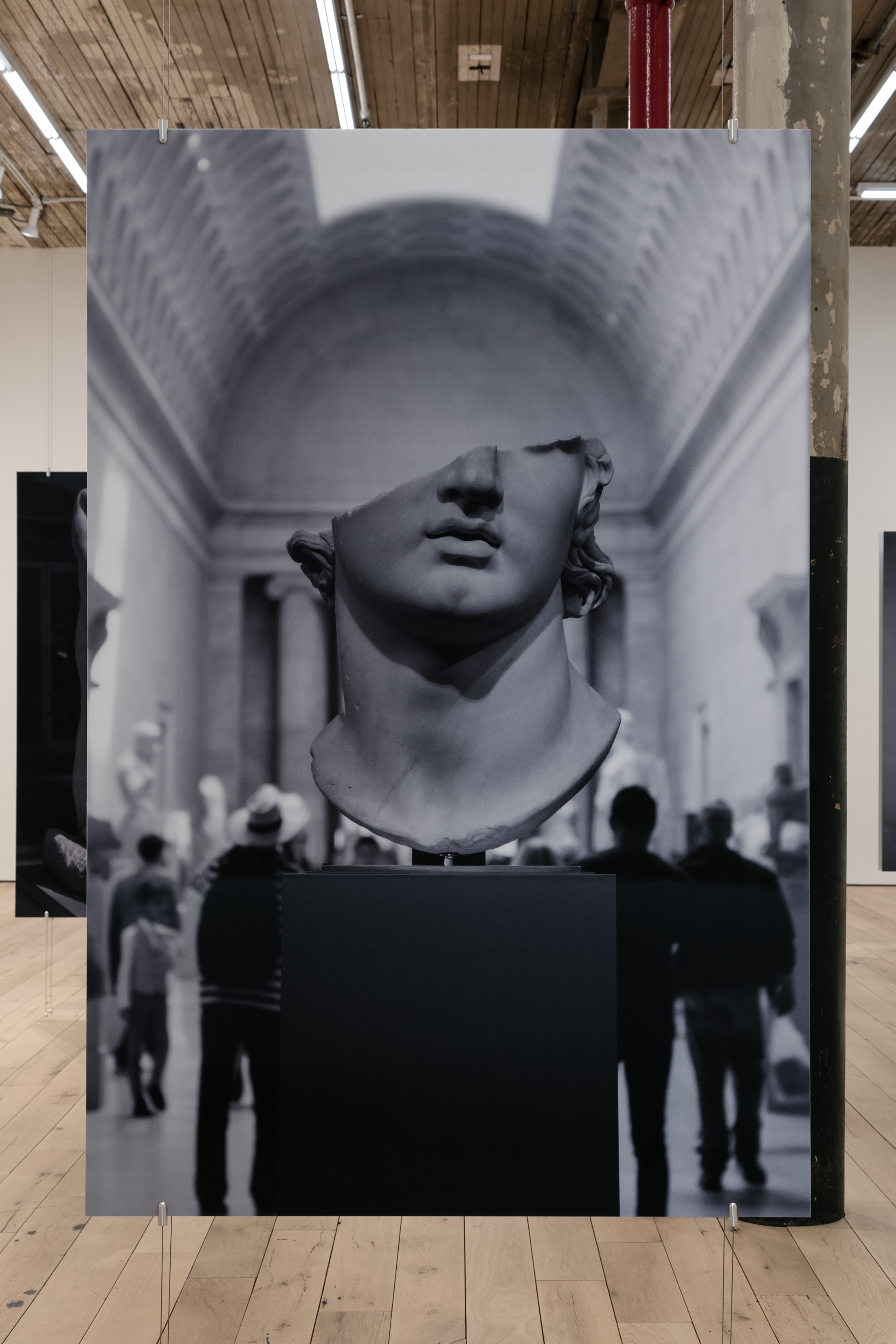 Aura Rosenberg ,   Colossal Head , 2018, lenticular print, 70 ⅞ × 47 ¼ in. (view 1)