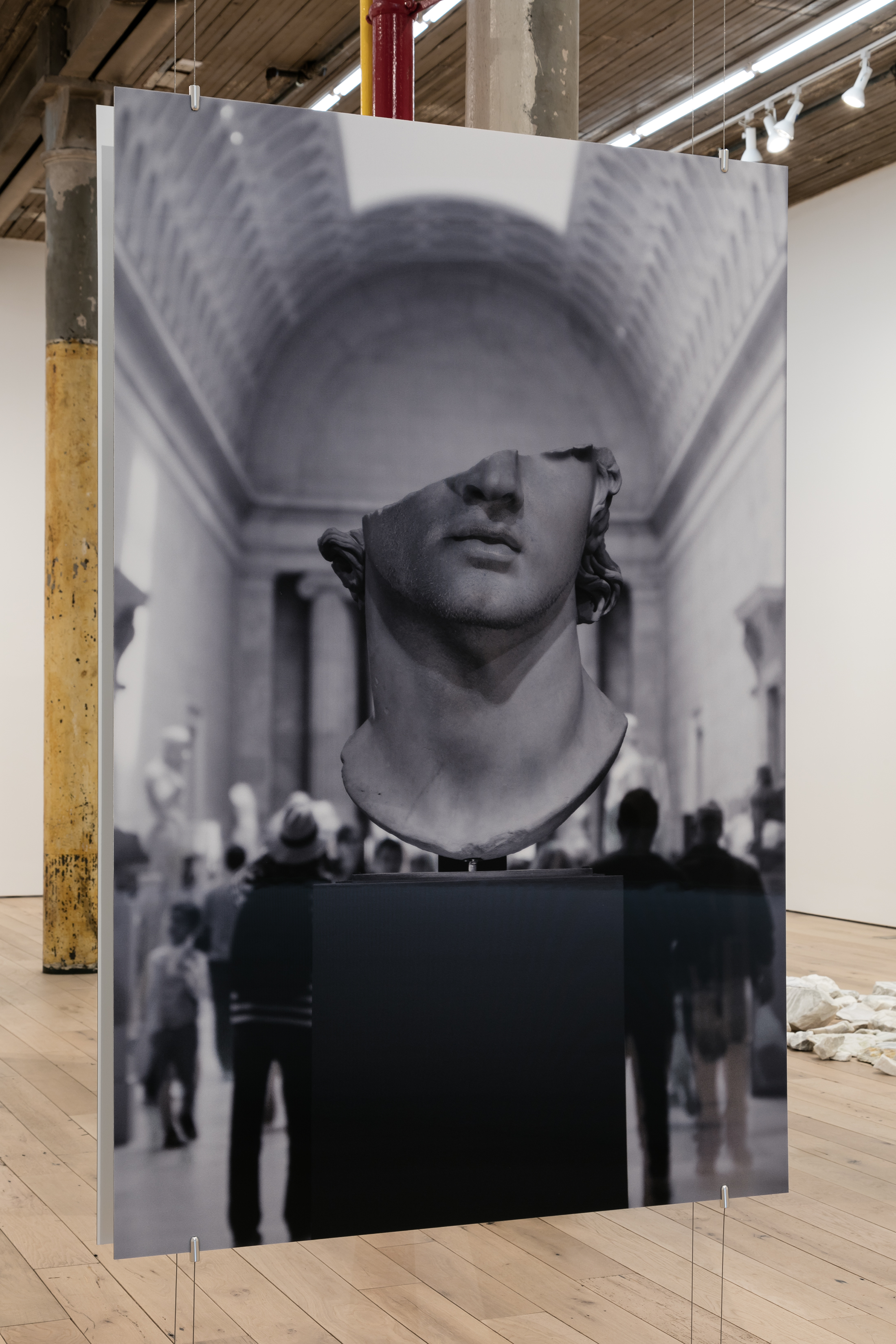 Aura Rosenberg,    Colossal Head , 2018, lenticular print, 70 ⅞ × 47 ¼ in. (view 2)