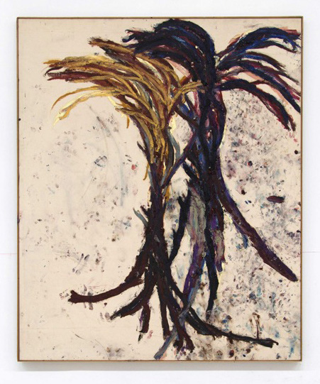 Dan Asher,  Untitled , 1985 oil stick on canvas 63 × 44 in