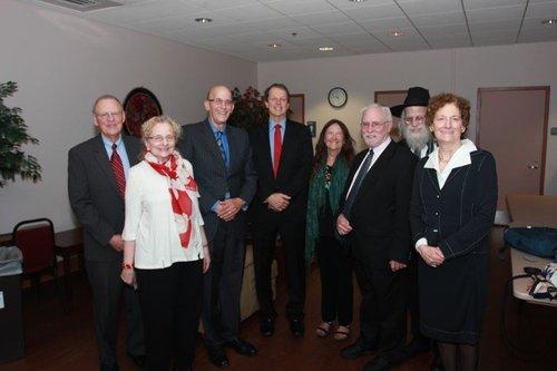 Barbara and fellow speakers at the Elie Wiesel Memorial Symposium at Florida Atlantic University, Feb. 2017