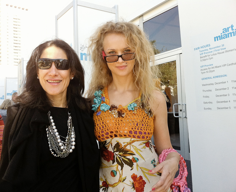 Curator Manon Slome & Artist Olek