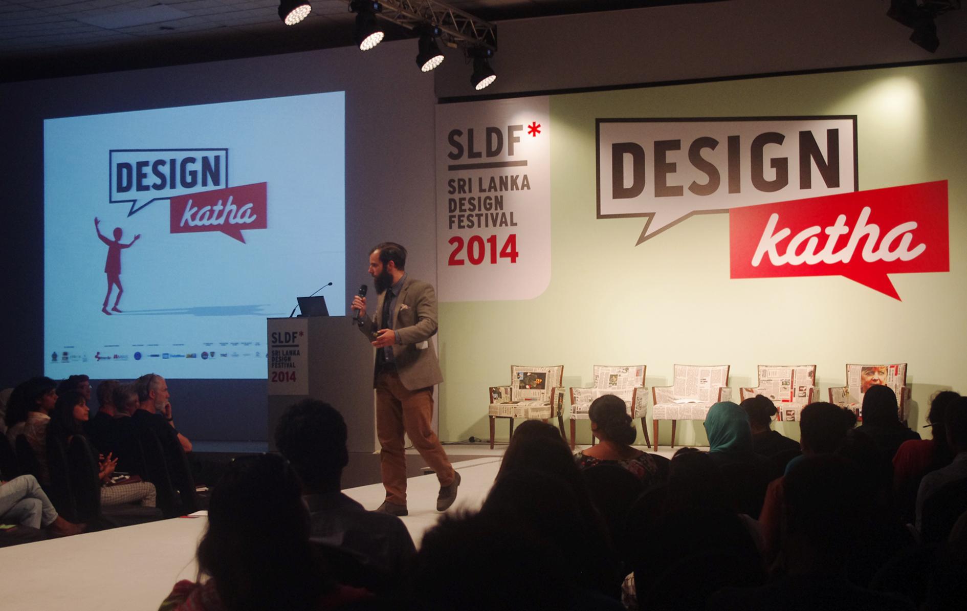 Design Katha forum at SLECC, Colombo. 2014.