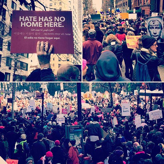 Proud of #womensmarch #womensmarchnyc #bronxdocumentarycenter @groana