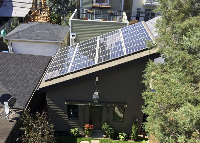 Garage Rooftop PV Panels