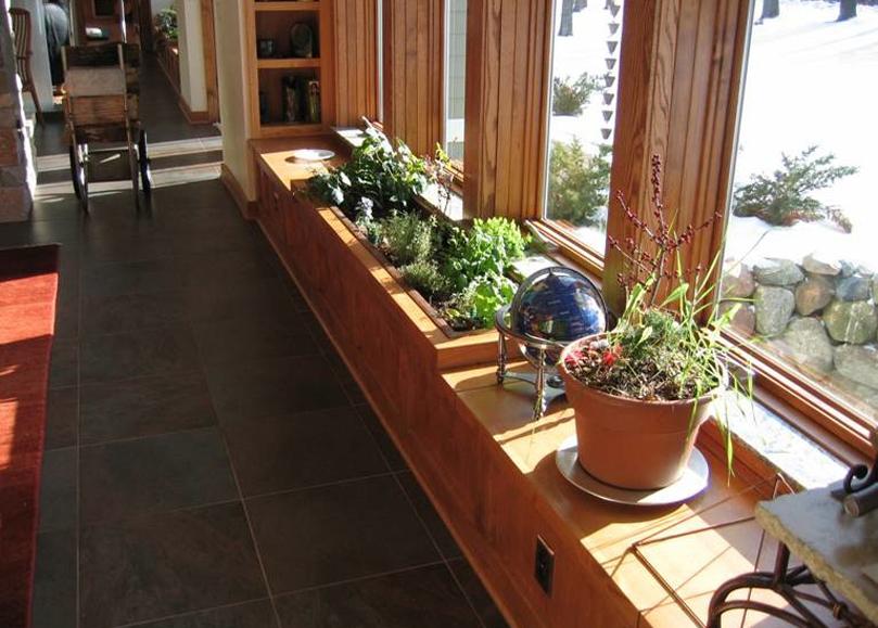 Interior herb garden