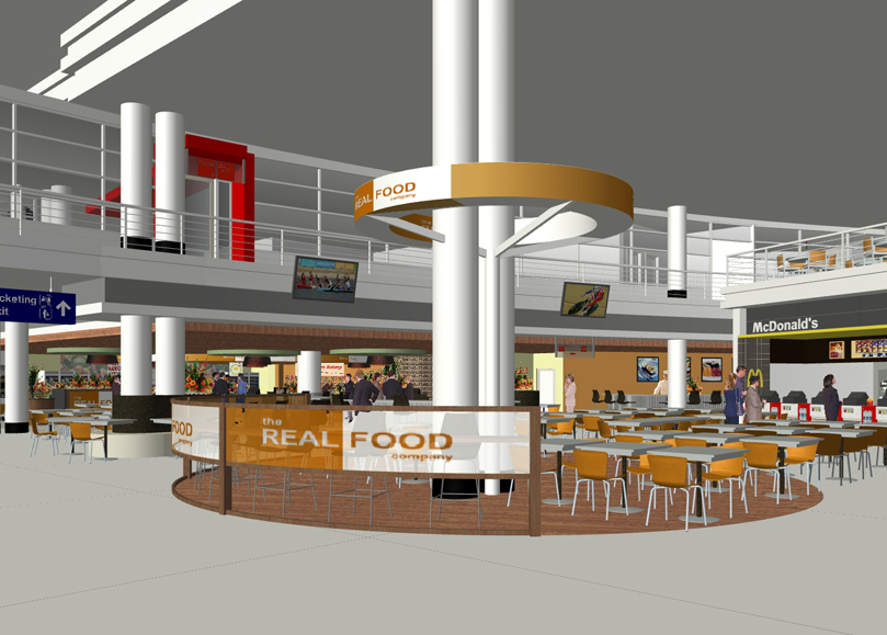 Terminal 5 Food Court Design | O'Hare Chicago