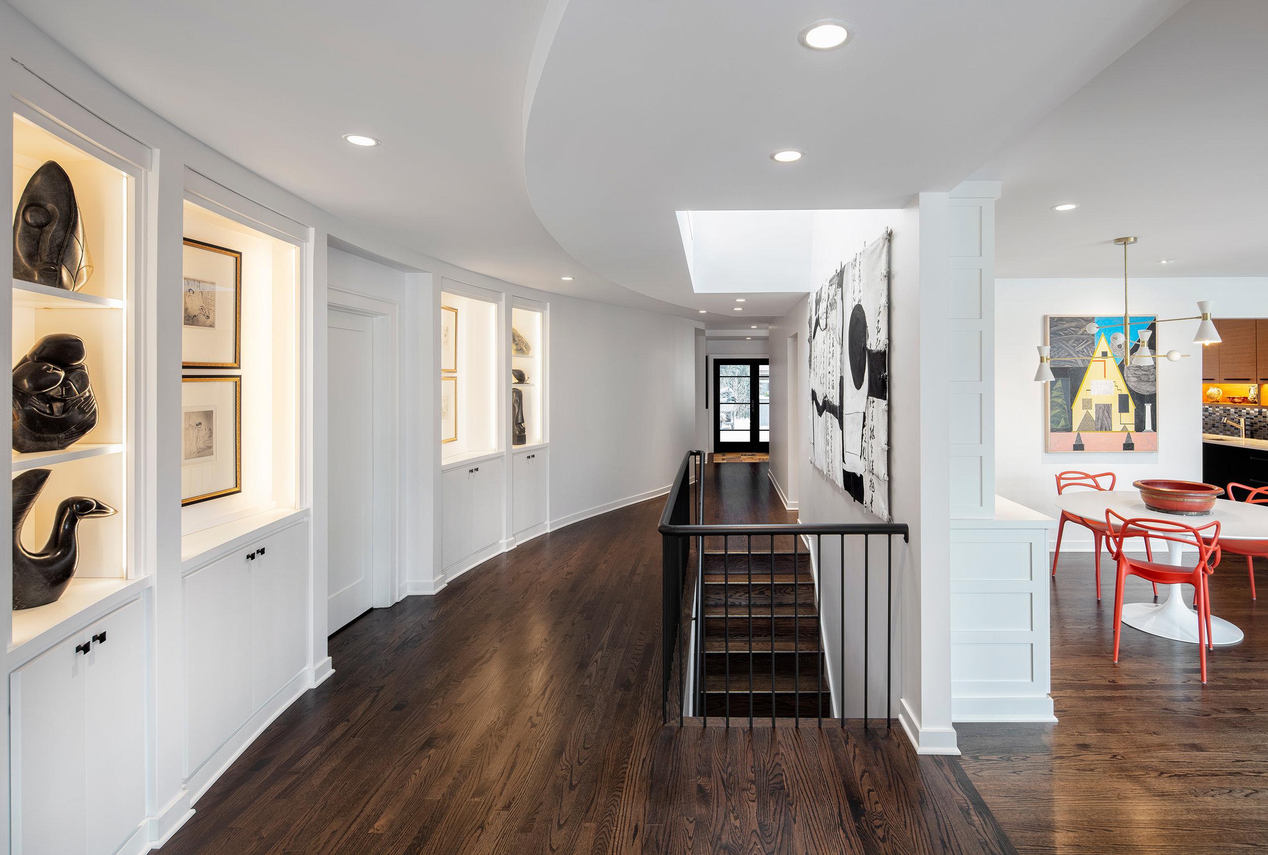 Curved Hallway with Skylight
