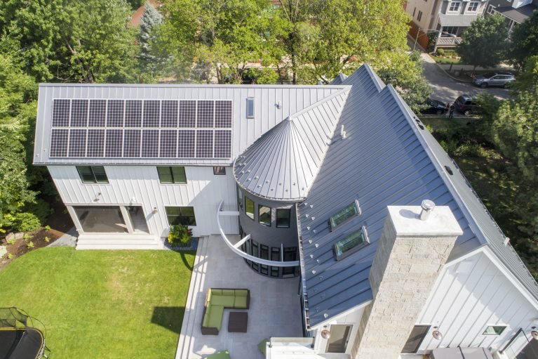 Modern Farmhouse Eco Home | All Electric Resilient Design  Banner Above: LEED Platinum Home in Evanston