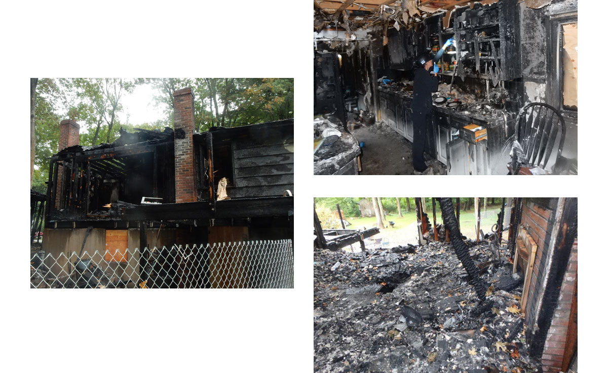 This fire destroyed a family's Georgetown, Massachusetts home and all of their possessions.