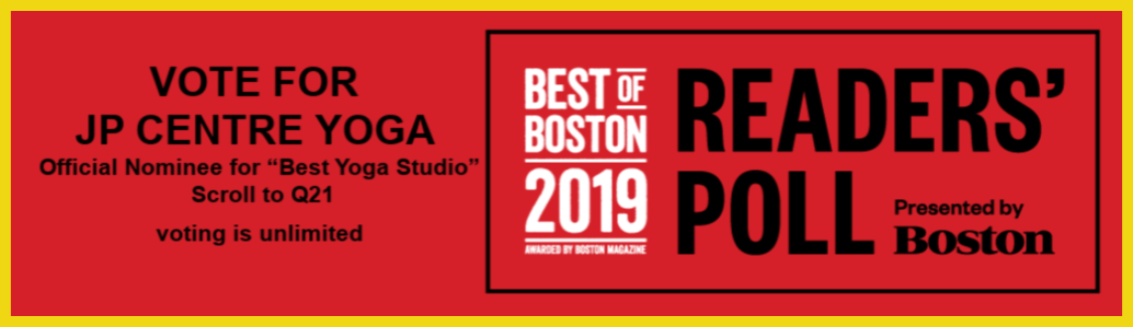 AWARDED BEST YOGA STUDIO 2018 AND NOMINATED FOR READER'S CHOICE 2019
