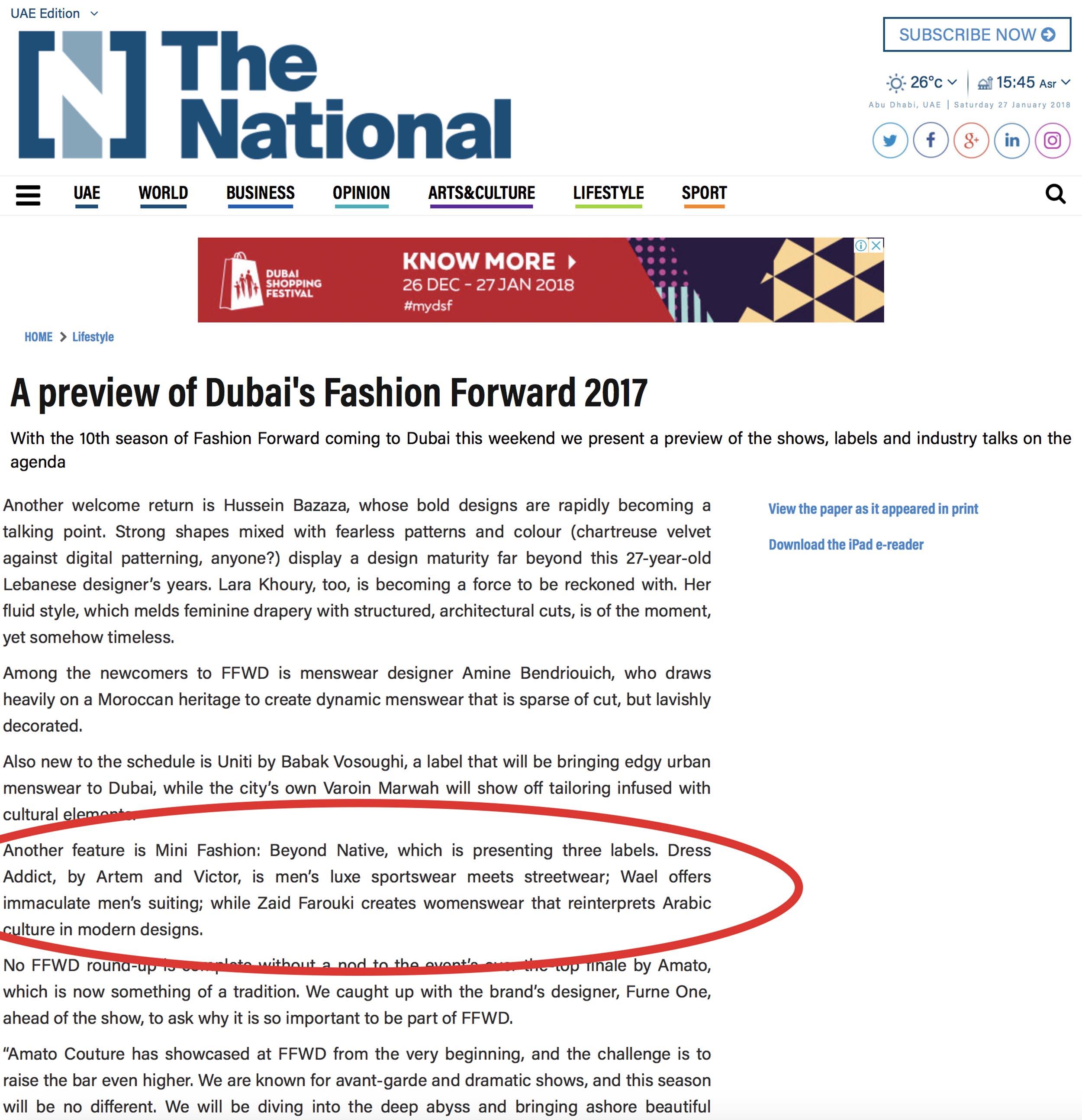 The National / November 2017