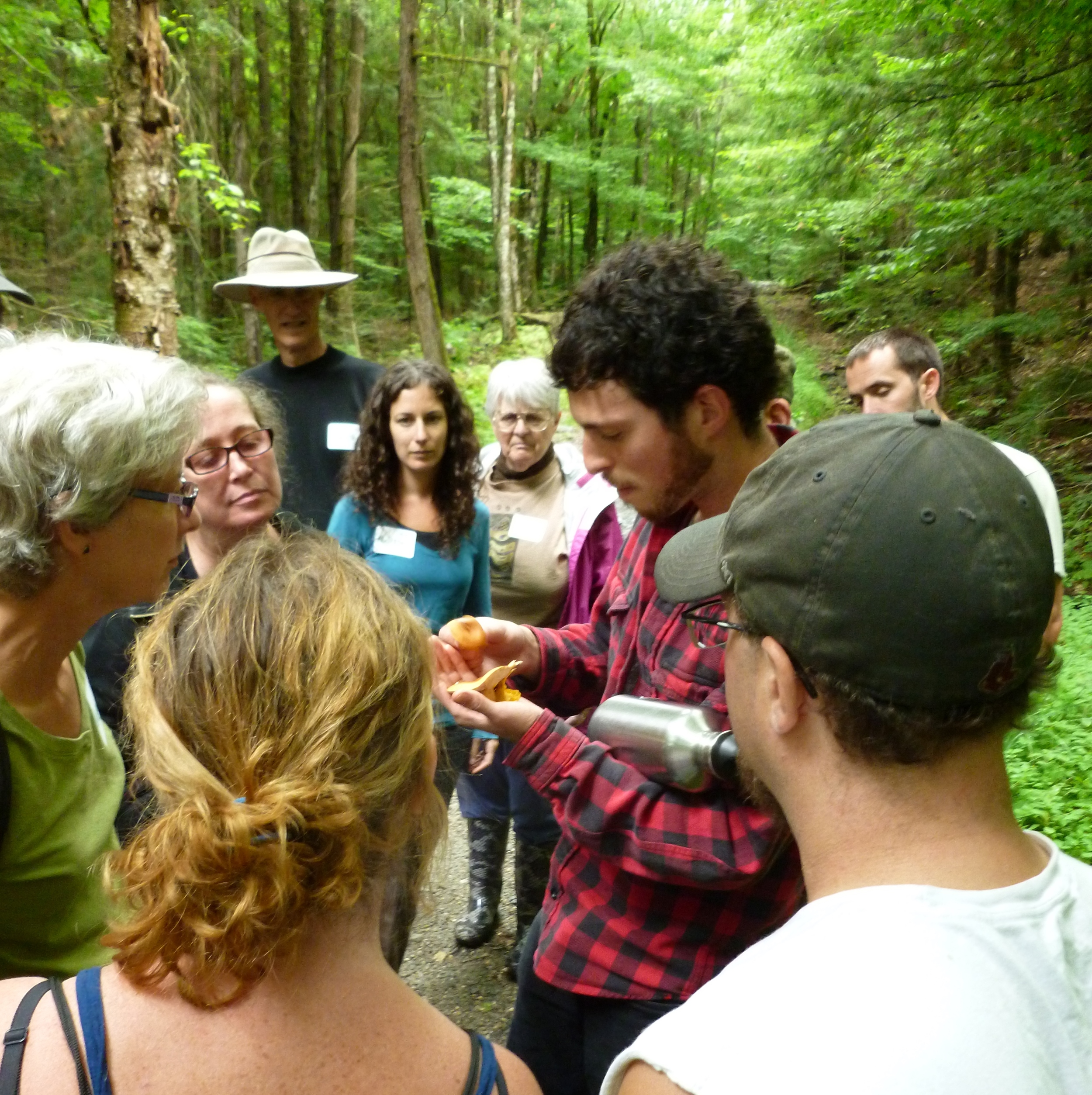 ari rockland-miller engages the audience at the wild world of mushrooms in August