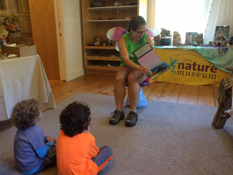 Leah leading last month's Mighty Acorns Program