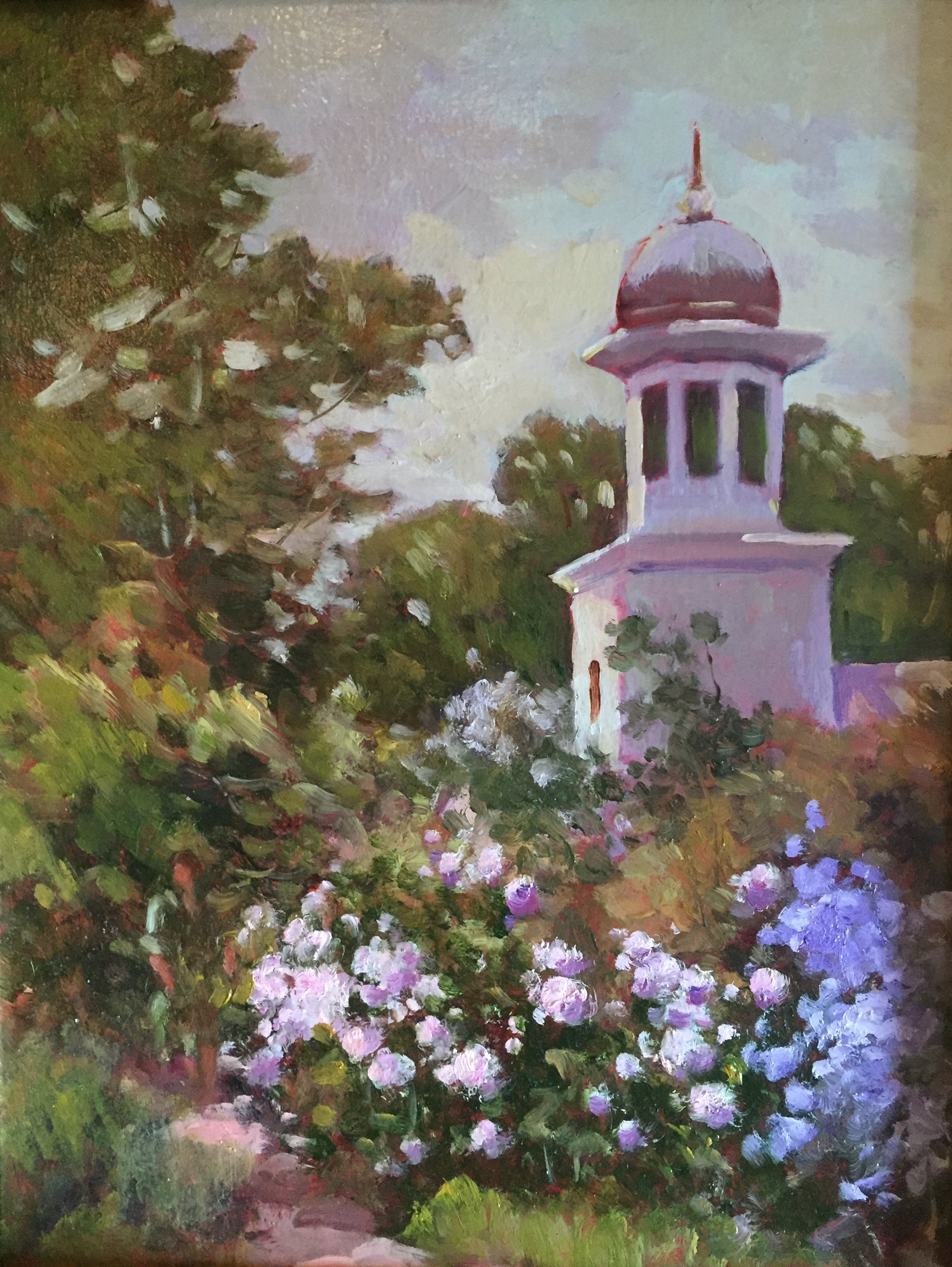 The Church in Amherst, 16 x 12, (+ frame), $