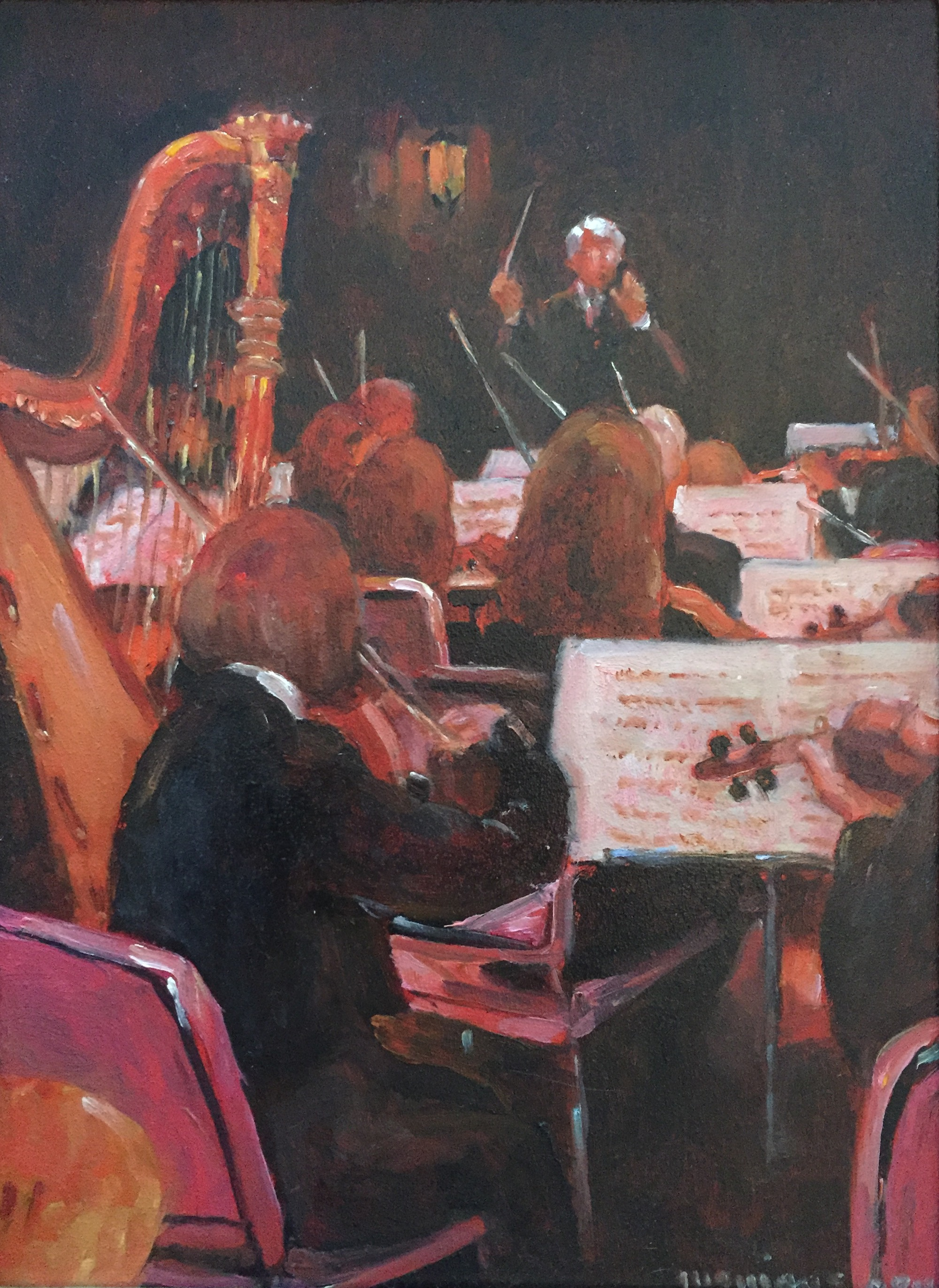 An Evening at the Symphony, 12 x 9 (+frame), $745