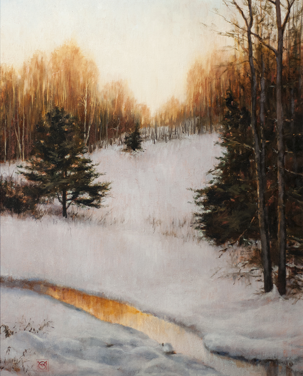 "Late Winter's Light, oil, 20"" x 16"", $1800"