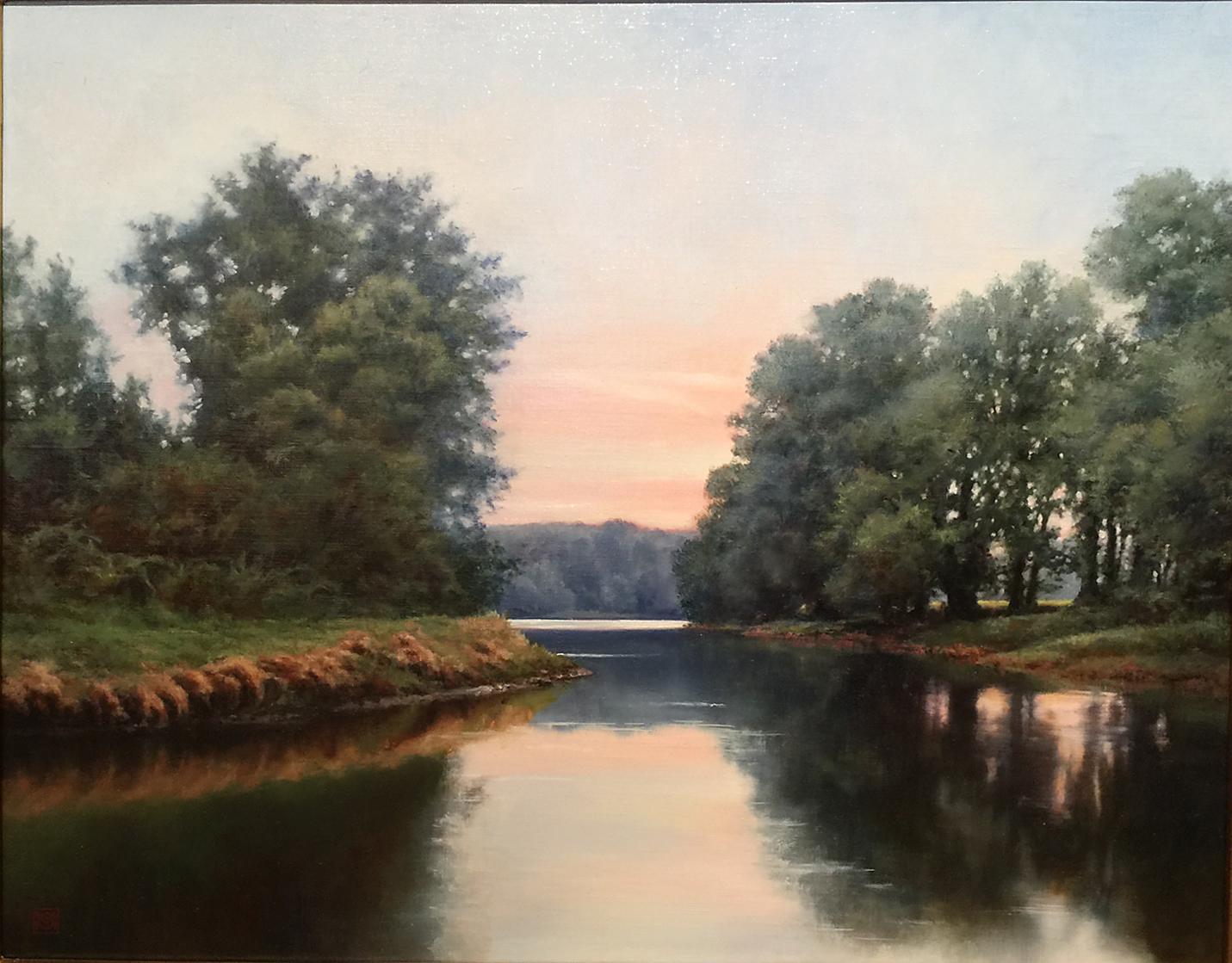 """River Idyll, oil, 24"""" x 30"""", $3000"""