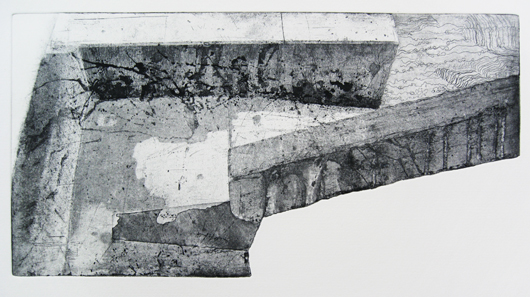 """""""Tolerating Uncertainty"""", etching on cut plate, 20"""" x 28"""", $800"""