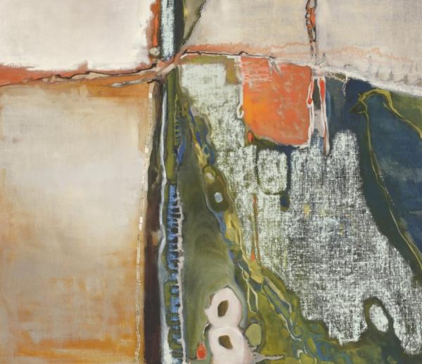 """""""Bird"""", oil on canvas, 26 x 30"""", $2,800"""