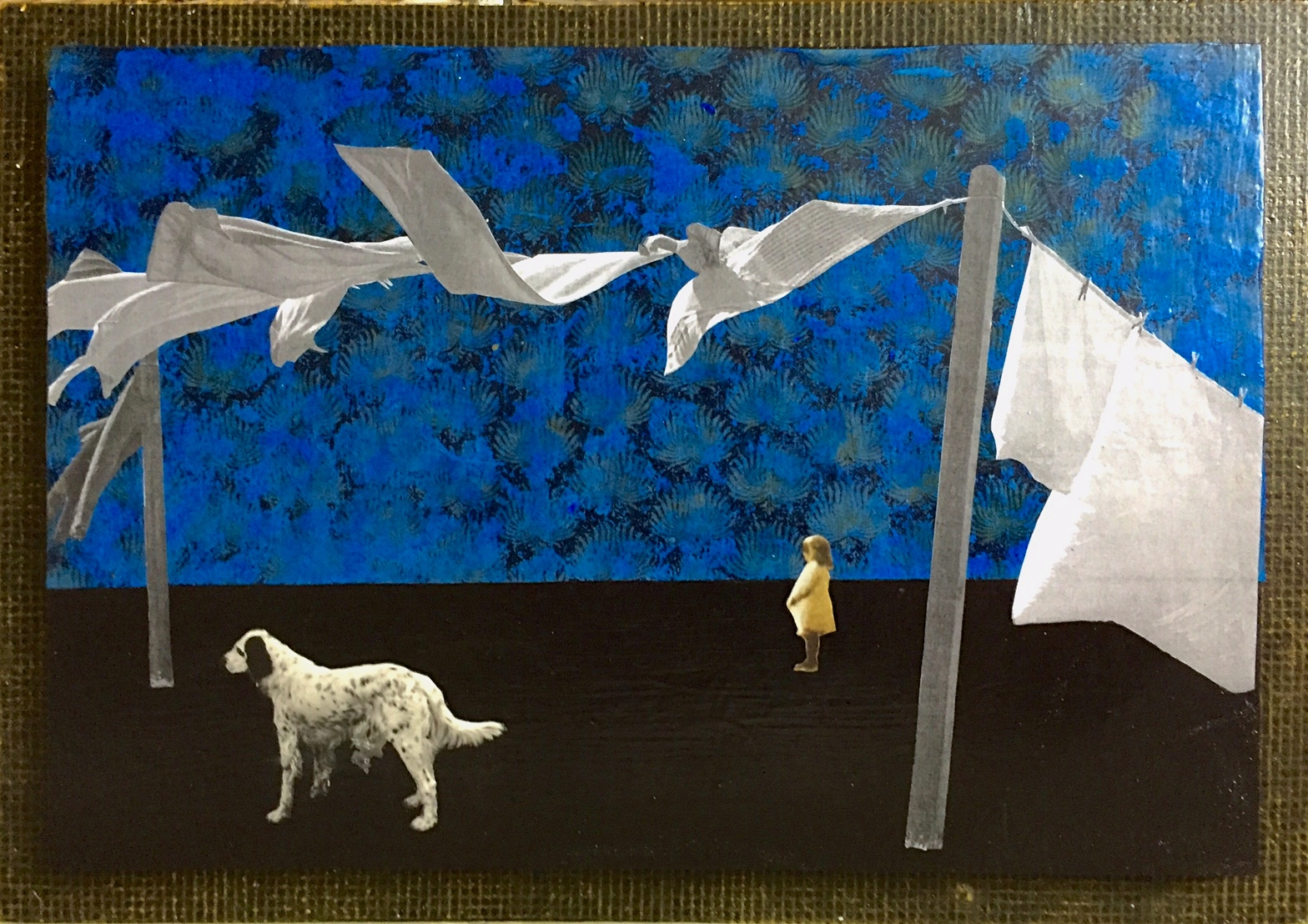 """""""Out Standing"""", collage, 15 x 21"""", $390"""