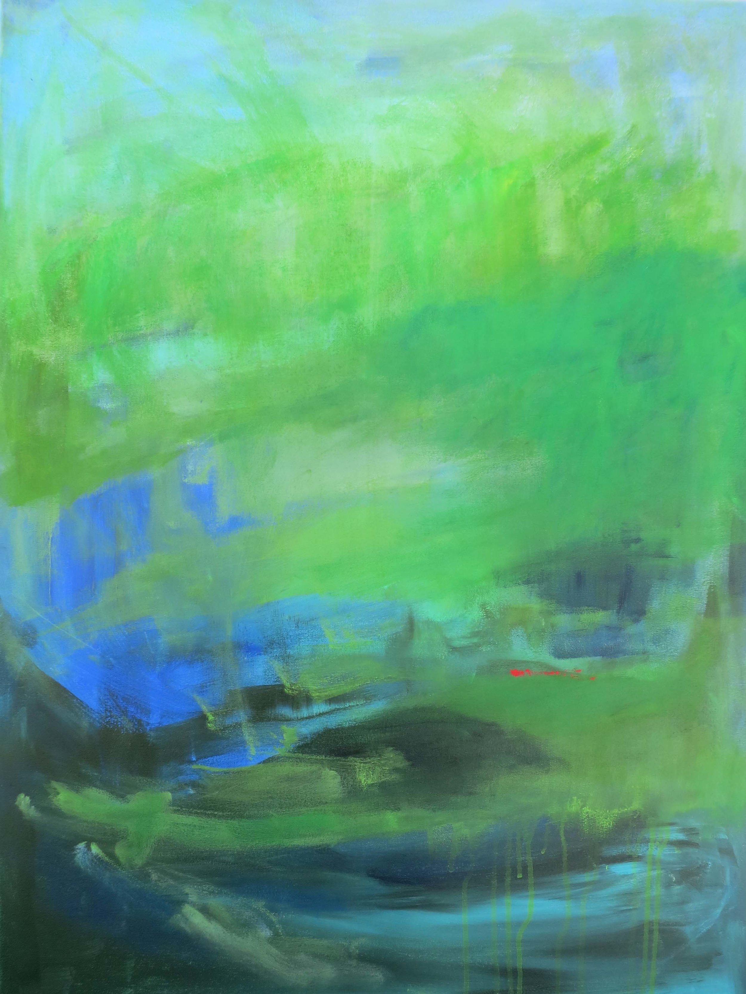 """Enlightenment"", acrylic, 40 x 30"", $1,500"