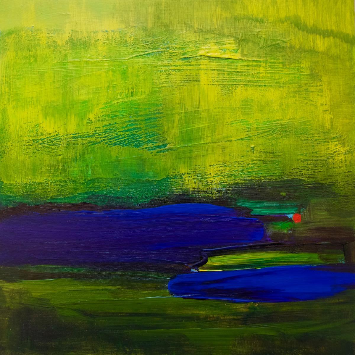 """""""Iris Fields"""", acrylic, 8 x 8"""", $275"""