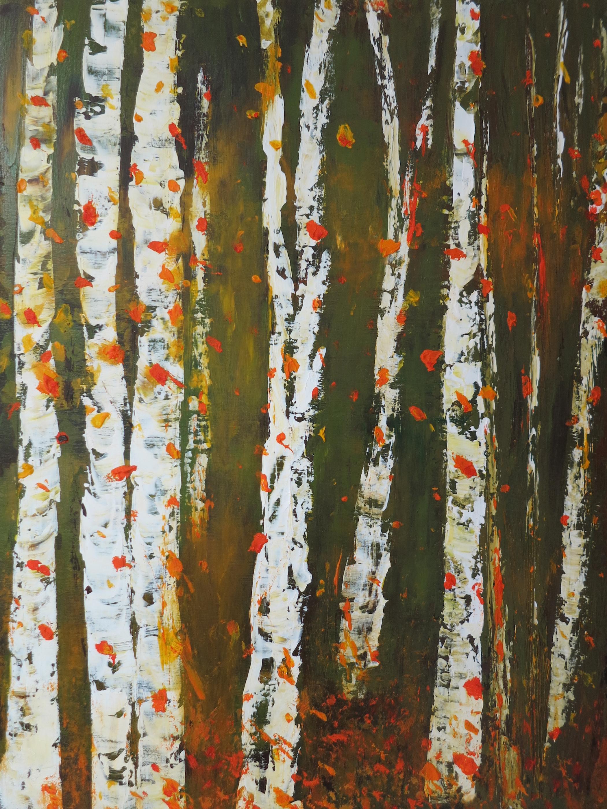 """""""Fall Confetti"""", mixed media, $900 (framed)"""