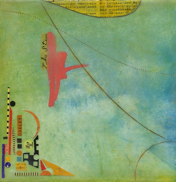 """Incidental Journey I"", mixed media, 9 x 9"", $225"
