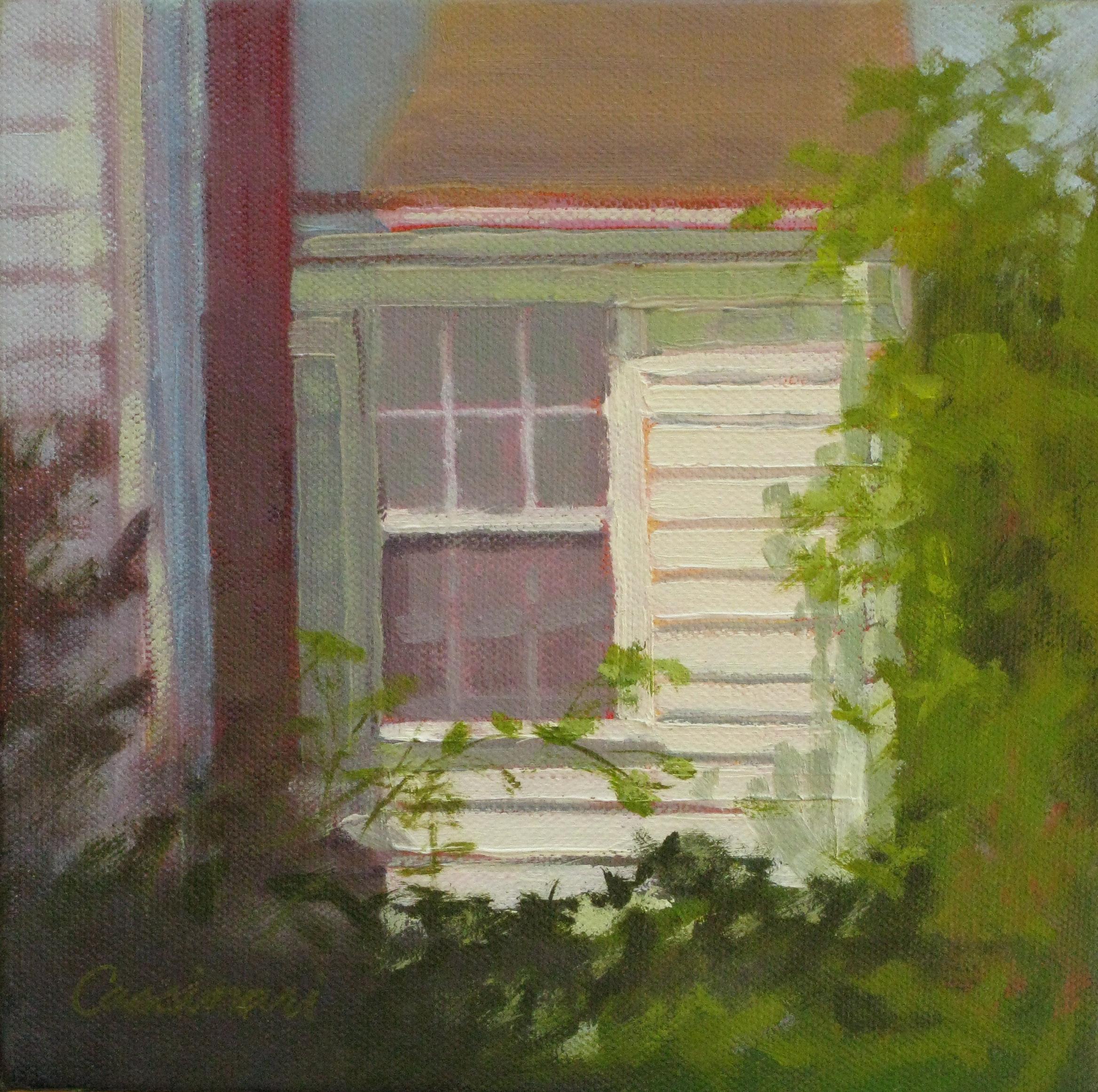 """""""Sunlit Window"""", oil, 8"""" x 8"""", $300"""