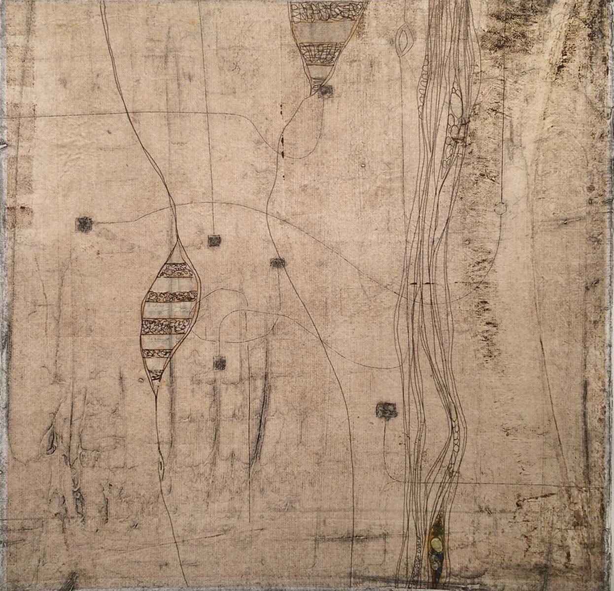 """Lost Journal"", monoprint & chine collé, 16"" x 20"", $300"
