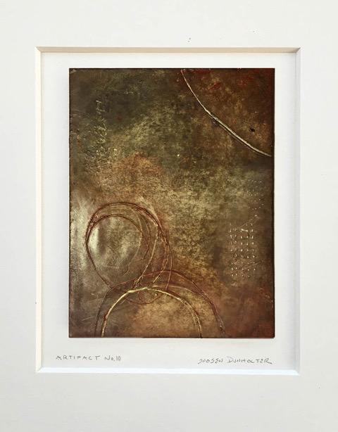 """""""Artifact No. 10"""", wax & oil stick, 14"""" x 11"""", $75 (matted)"""