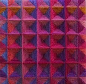 """""""Small Square III """", fiber, 6"""" x 6"""", $250"""