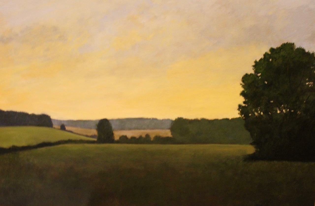 """Grass Meadow"", oil, 24"" x 36"", $2,200"