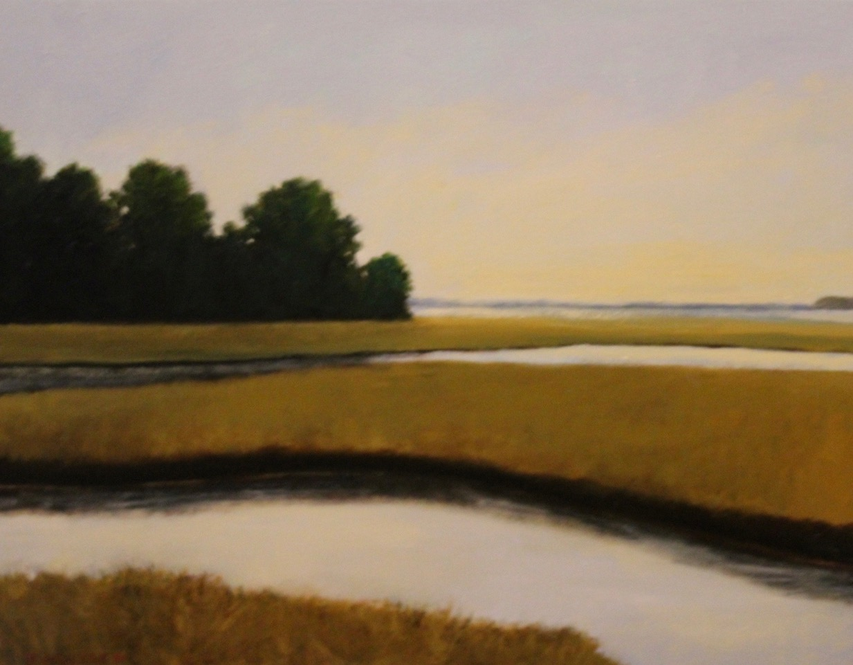 """River & Marsh"", oil, 16"" x 20"", $800"