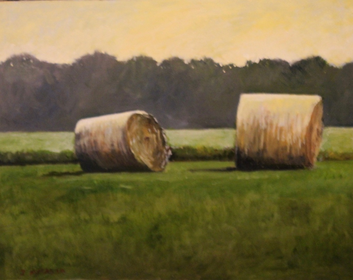 """Two Bales, Vermont"", oil, 11"" x 14"", $400"