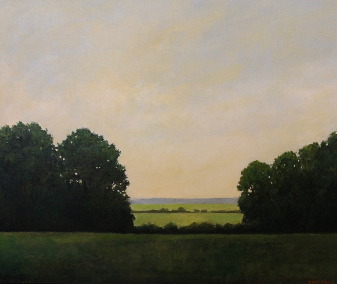"""""""Clearing"""", oil, 30"""" x 40"""", $3,000"""