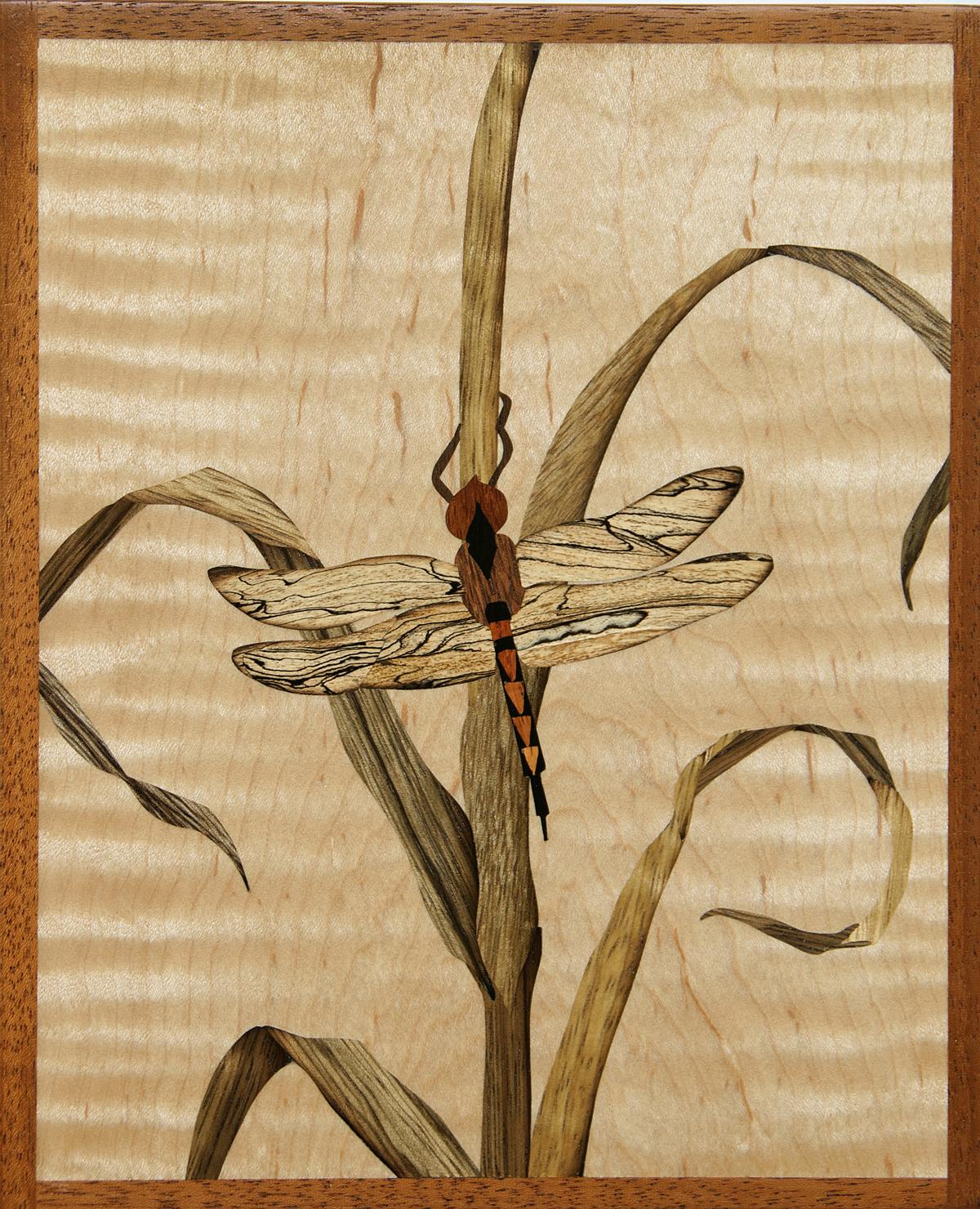 """""""Dragonfly"""", wood, 9"""" x 7"""", $695"""