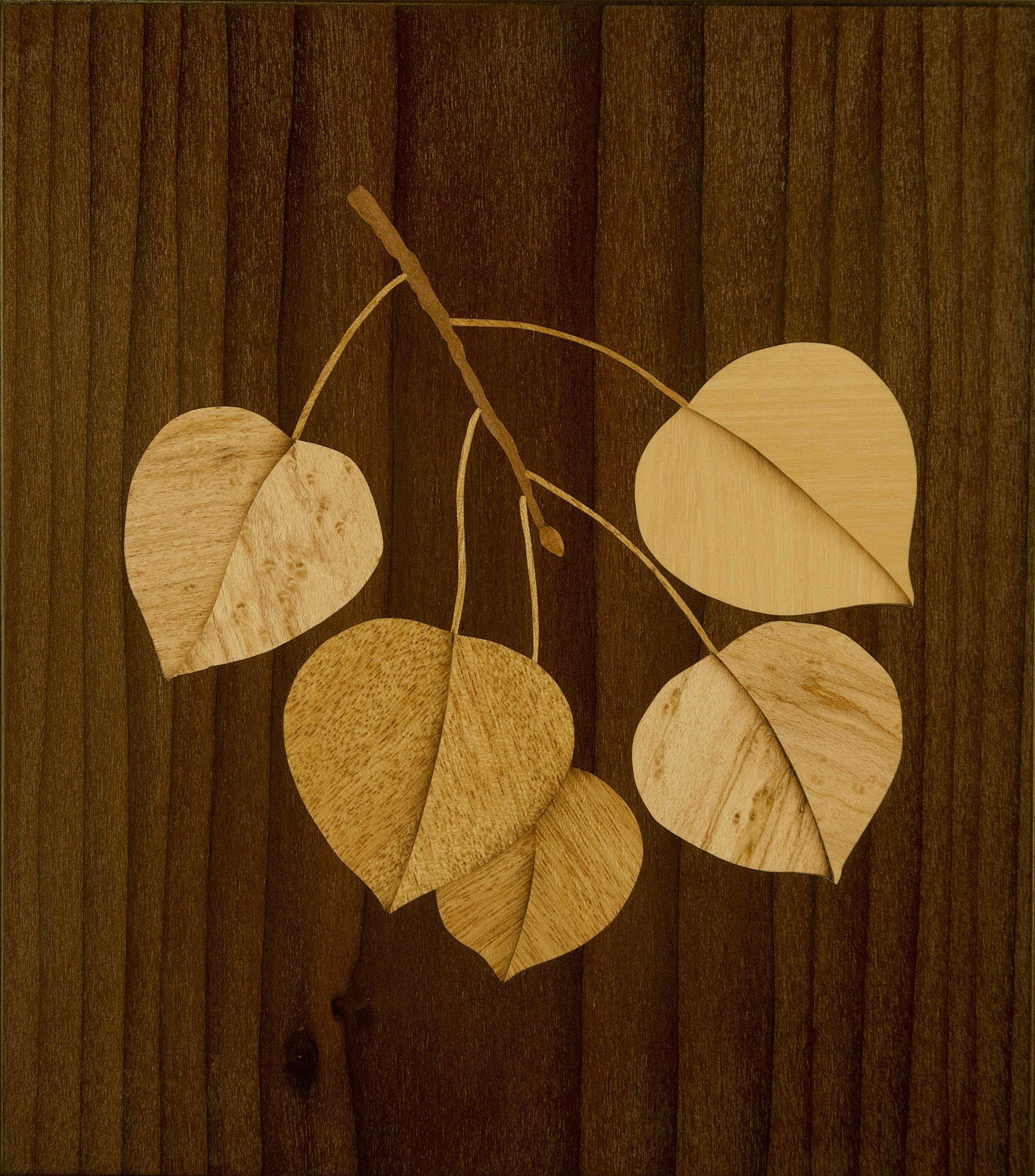 """Golden Aspen"", wood, 7"" x 6.5"", $450"