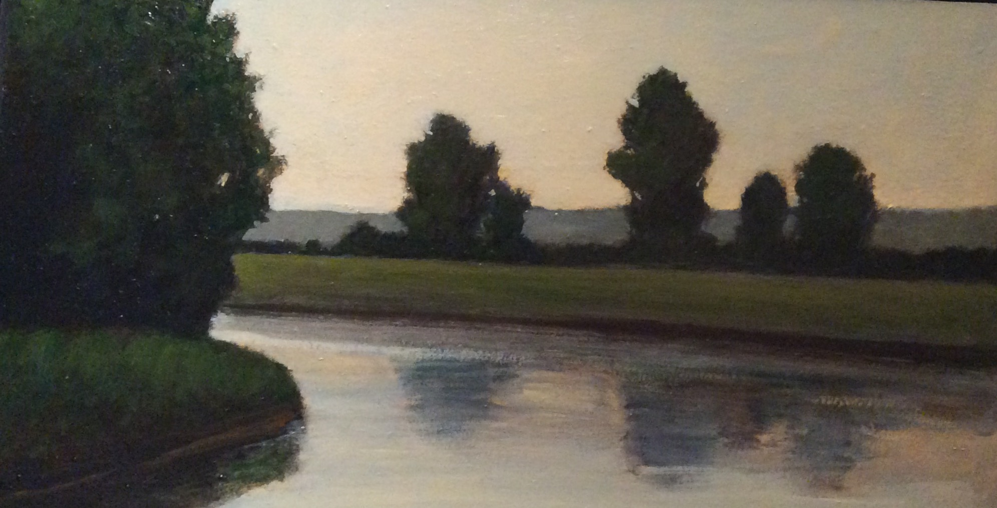 """Last Summer"", oil, 12"" x 21"" (framed), $400 SOLD"