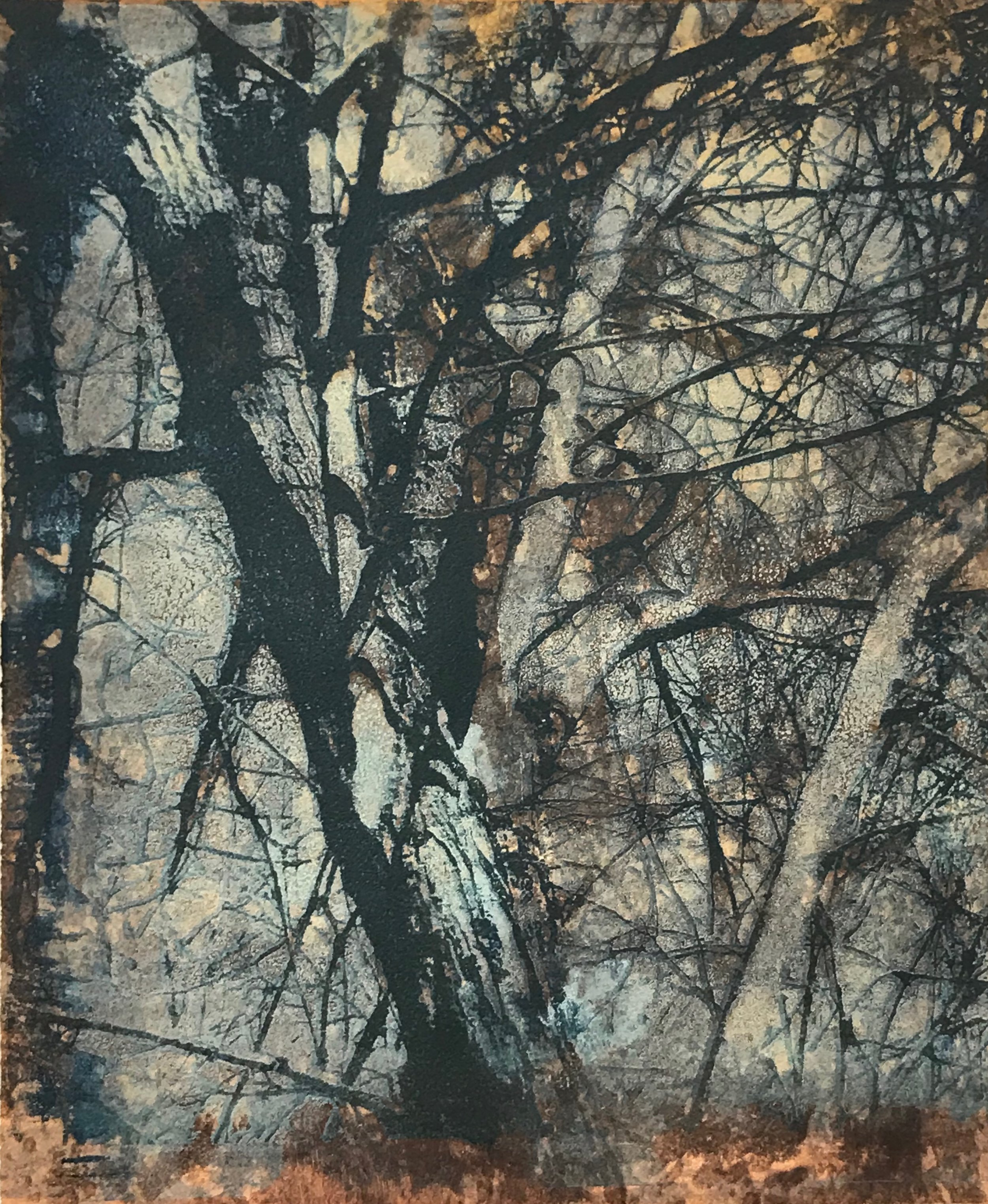 """Autumn Frost"", monoprint, 17"" x 14.5"", $300 (framed)"