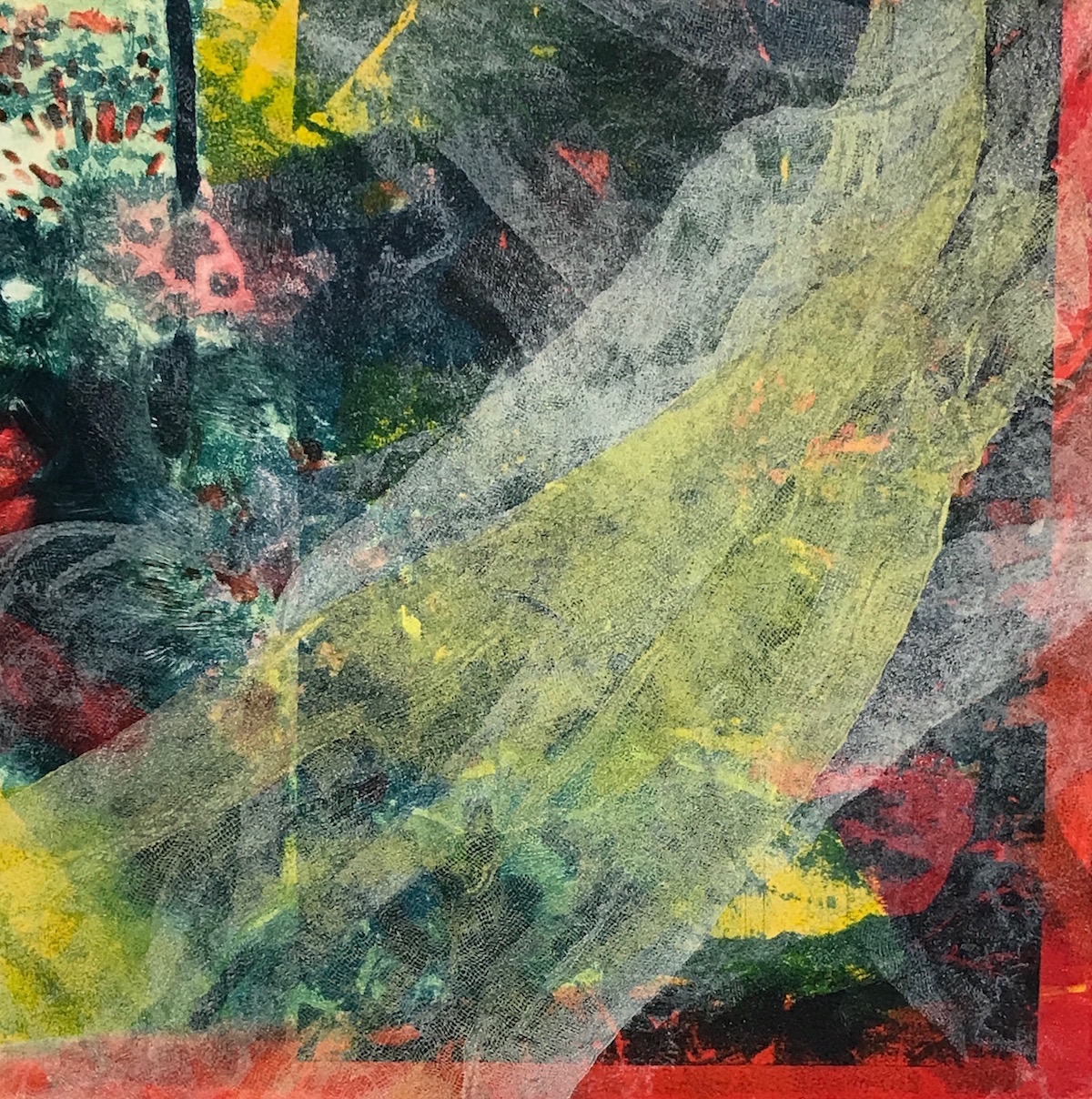 """Bedroom Window II"", monoprint, 18"" x 17"", $300 (framed)"