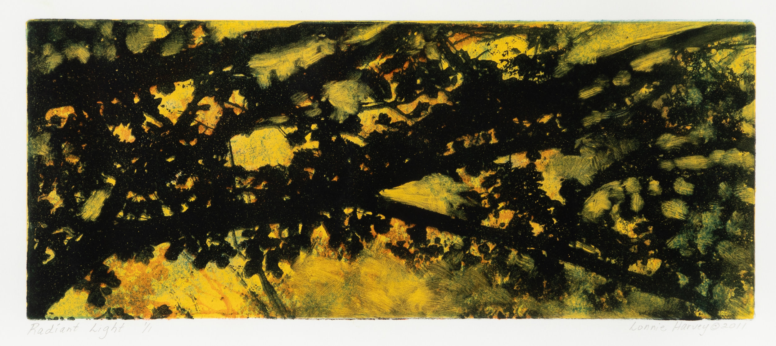 """Radiant Light"", monoprint, 14.75"" x 22.5"", $300 (framed)"