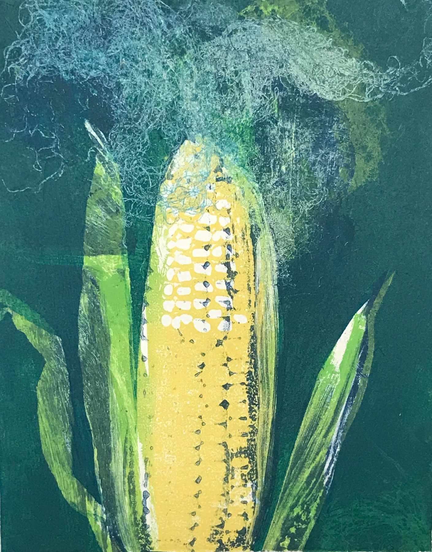 """Corn II"", monoprint, 10"" x 8"", $150 (unframed)"