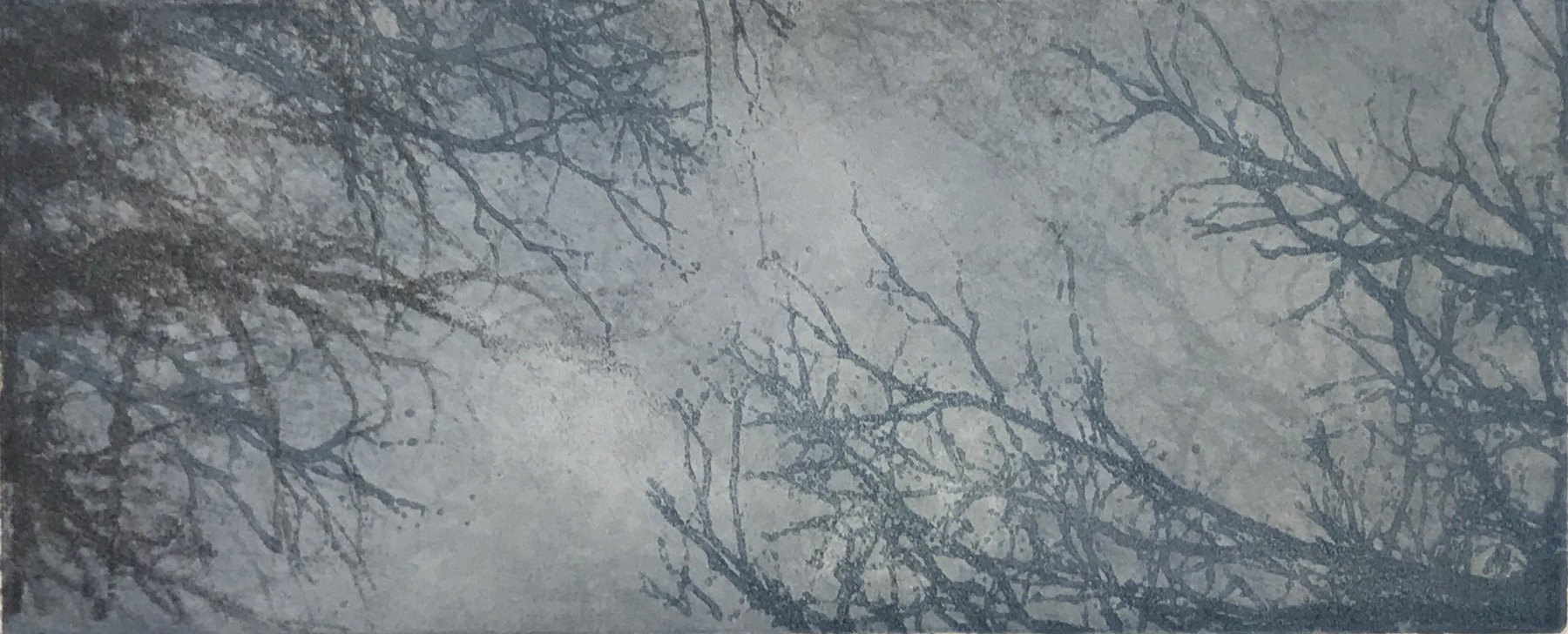 """Evening Frost"", monoprint, 6"" x 14.5"", $150 (unframed)"