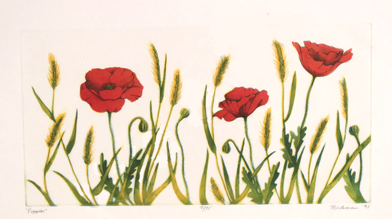 """Poppies"",  multi-plate etching, $525 (unframed)"